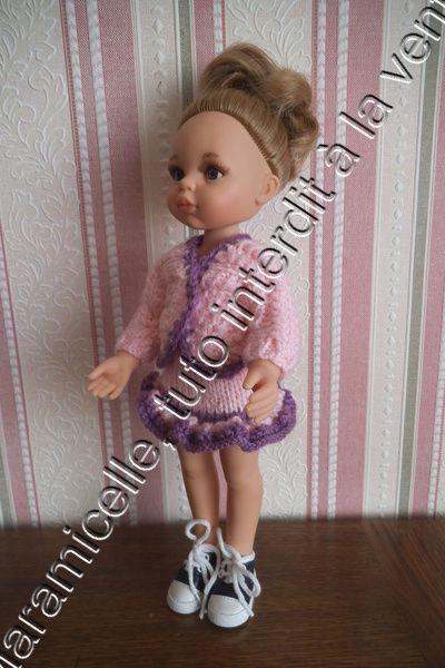 tuto gratuit poupée paola reina : veste à liseré