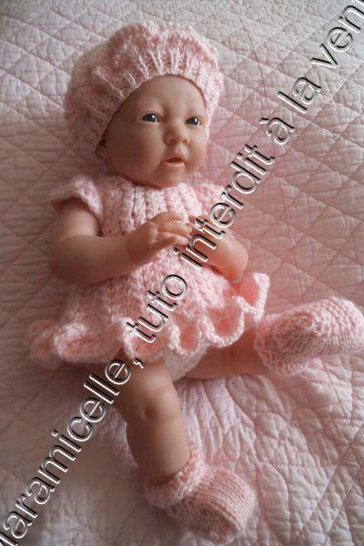 tuto gratuit poupée bébé Bérenguer : béret féminin