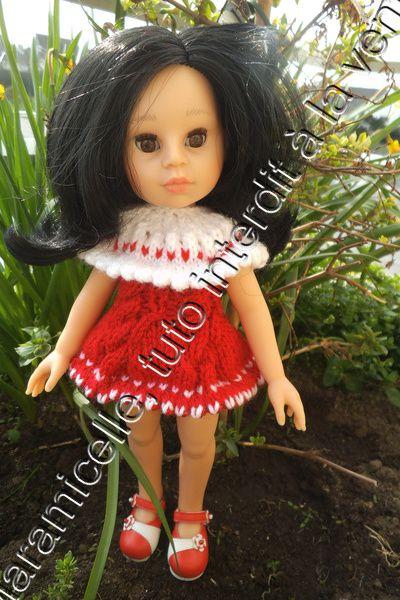 tuto gratuit poupée paola reina / chérie de corolle : robe pour petite poupée modèle