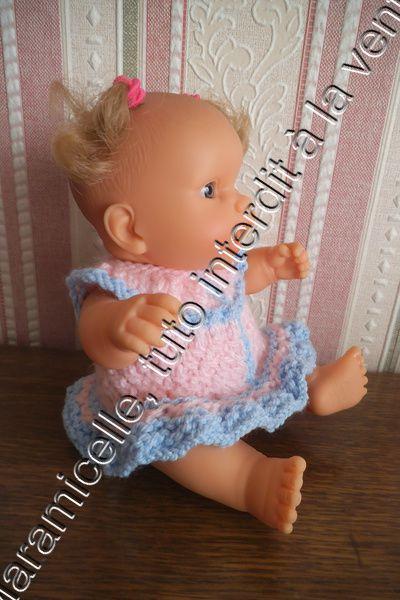 tuto gratuit poupée: robe bicolore point V