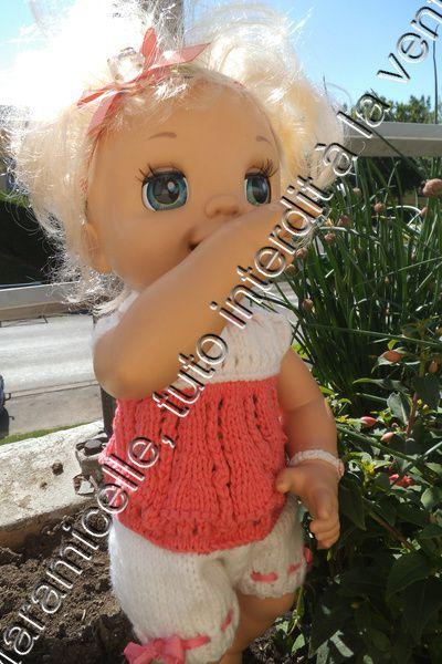 tuto gratuit poupée: petit haut ajouré pour l'été sans couture