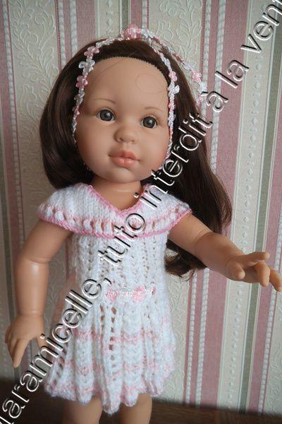 tuto gratuit poupée : robe d'été à troutrous et col fantaisie