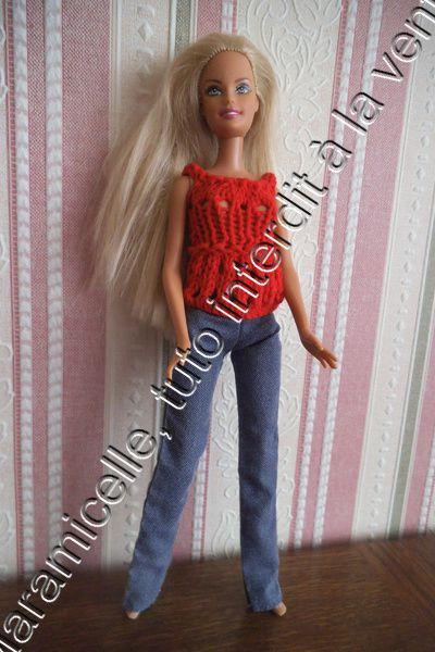 tuto gratuit barbie : petit haut ajouré
