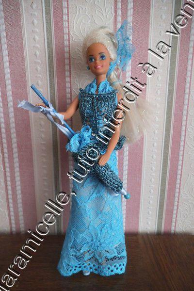 tuto gratuit barbie : ombrelle avec dentelle