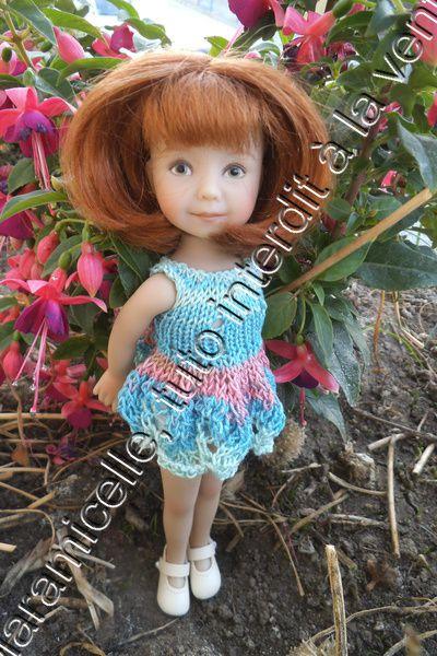 tuto gratuit poupée: robe vague couleur océan