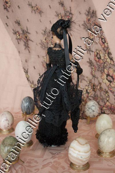 tuto gratuit Barbie: petite robe noire à tournure