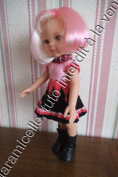 tuto gratuit poupée : robe flamboyante