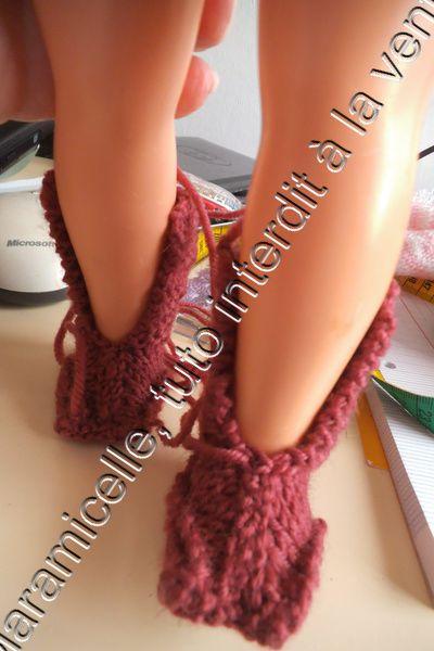 tuto gratuit poupée: bottes à lacets