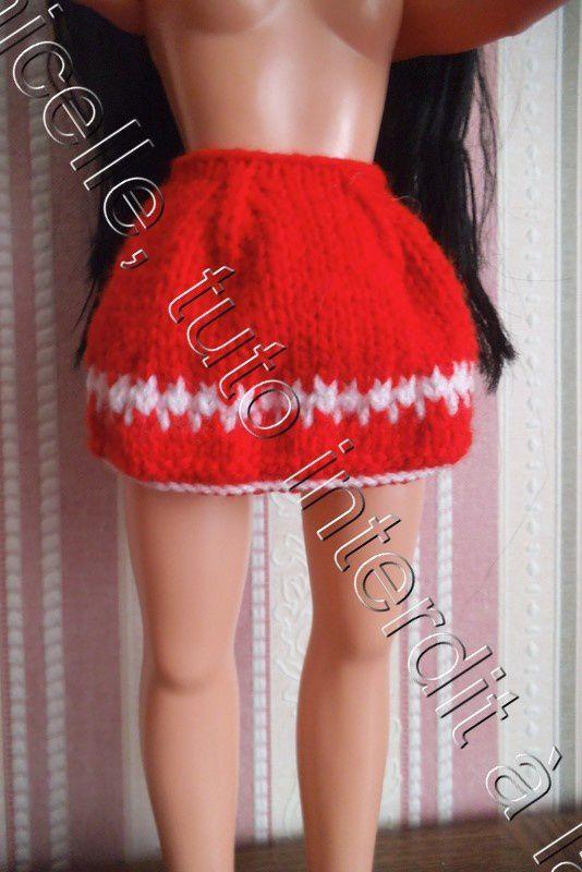 tuto gratuit poupée: jupe d'hiver avec jacquard pour débutantes