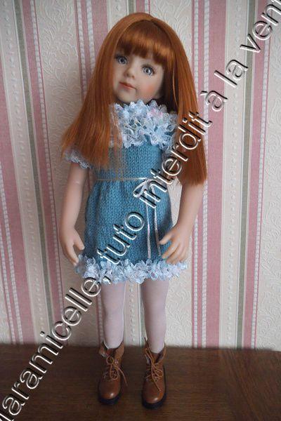tuto gratuit poupée: robe à empiècement en dentelle