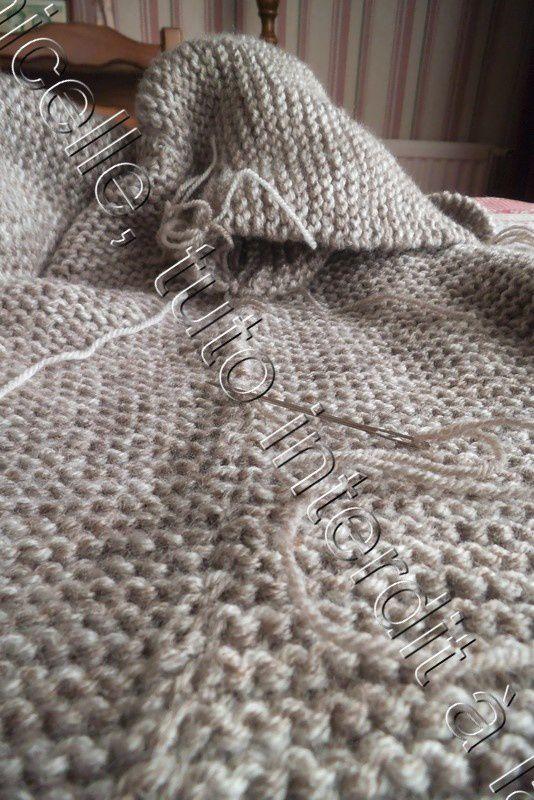 tuto gratuit : couture à plat sur un tricot en point mousse