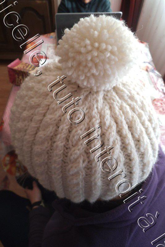 tuto gratuit : bonnet à torsades pour adultes