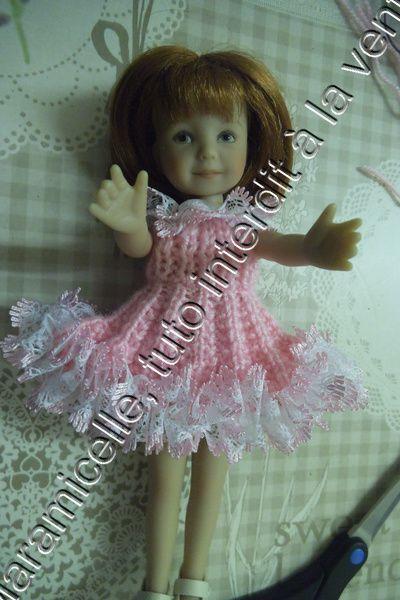 """tuto gratuit poupée: robe """" plissé  et dentelle"""""""