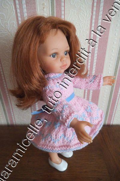 tuto gratuit poupée: robe d'hiver aux petits coeurs