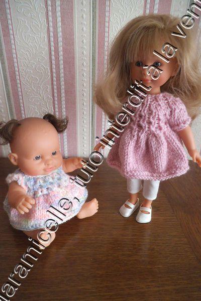 tuto gratuit poupée : robe aux croisillons