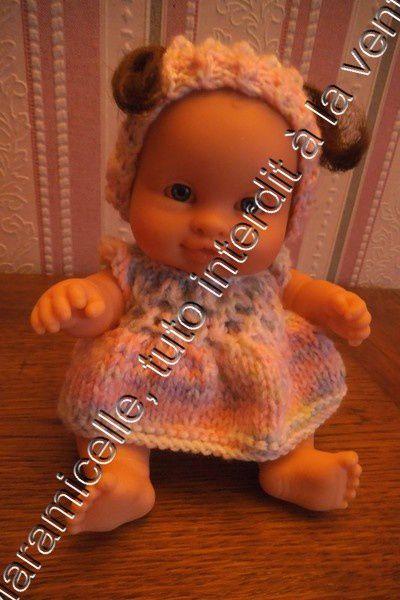 tuto gratuit poupée: bonnet pour bébés à couettes, ou pas