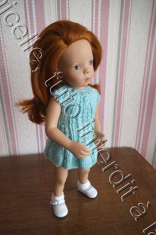tuto gratuit poupée: robe printanière ajourée