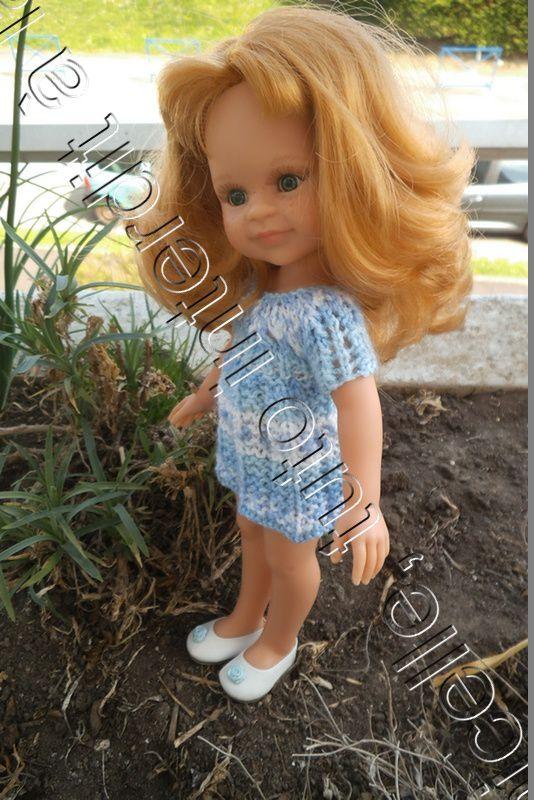 tuto gratuit poupée: robe plissé droit et petits trous