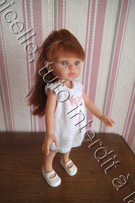 tuto gratuit poupée : robe blanche à pli creux