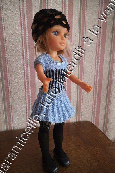 tuto gratuit poupée: robe à base soleil