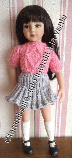 tuto gratuit poupée : jupe plissée pour jolie poupée