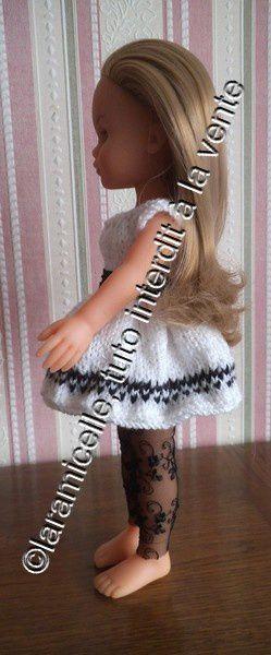 tuto gratuit poupée: une robe, deux versions