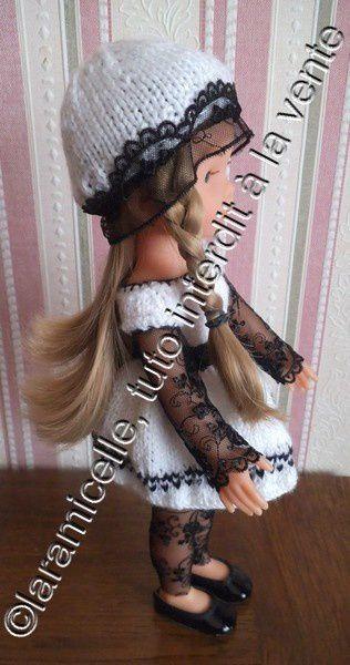 tuto gratuit poupée : chapeau à la dentelle