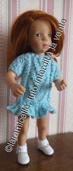 tuto gratuit poupée: robe à chevrons
