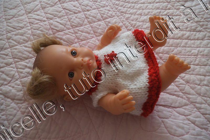 tuto gratuit poupée; robe toute simple pour tricoteuses presque débutantes
