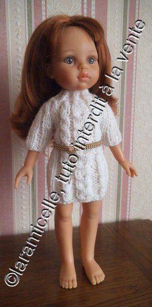 tuto gratuit poupée: robe  années 70