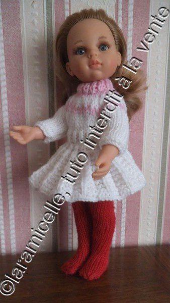 tuto gratuit poupée: pull jacquard tendre et très facile au col cheminée