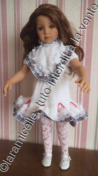 tuto gratuit poupée: blouse à dentelle
