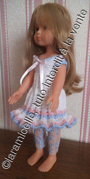 tuto gratuit poupée: robe soleil aux manches fendues
