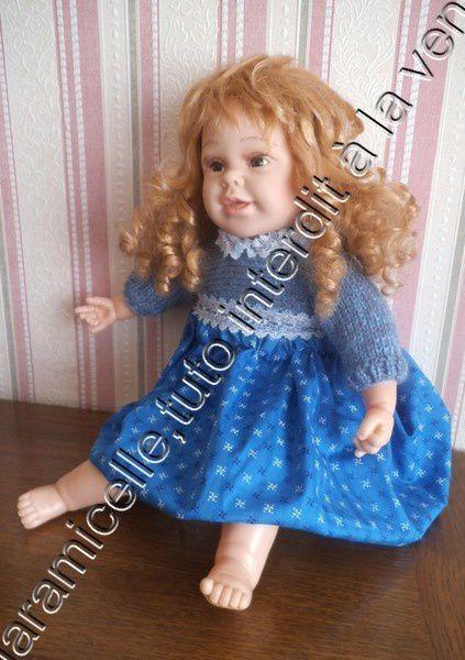 tuto gratuit poupées: robe tricot  et tissu