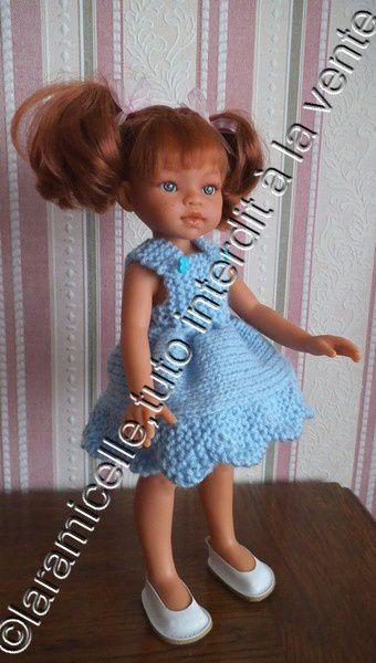 tuto gratuit poupée: robe printanière à bretelles et bord tulipe