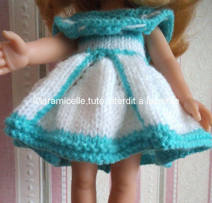 tuto gratuit poupée : robe à godets et  volant