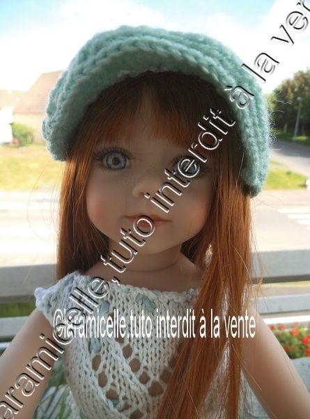 tuto gratuit poupée: casquette d'été