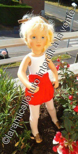 tuto gratuit poupée : jupe plissée pour la rentrée des classes