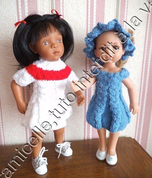 tuto gratuit poupée: robe automnale à empiècement tresse