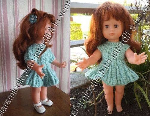 tuto gratuit poupée: robe  ample à mailles croisées
