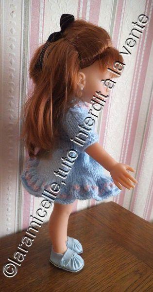 tuto gratuit poupée: robe col fantaisie et ceinture invisible