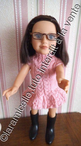 tuto gratuit poupée: robe torsade et col montant