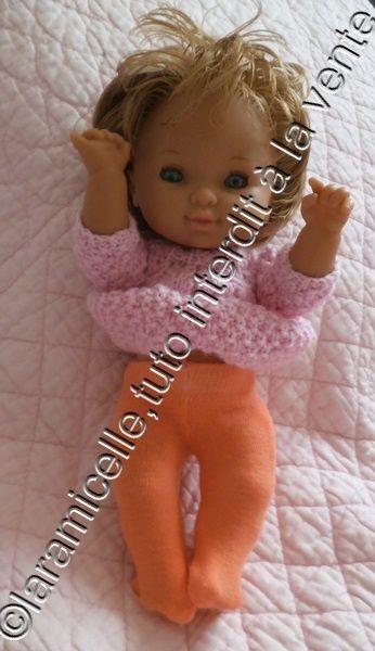 tuto gratuit poupée: faire des collants quand on ne sait pas coudre