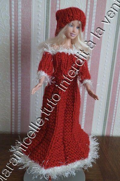 tuto gratuit Barbie : bonnet de Noël ,pour tricoteuses débutantes