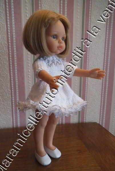 tuto gratuit poupée: robe de fête  neige argentée