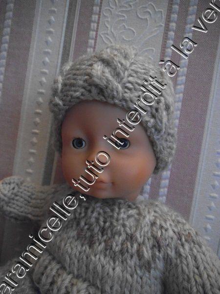 tuto gratuit poupée: bonnet à torsades