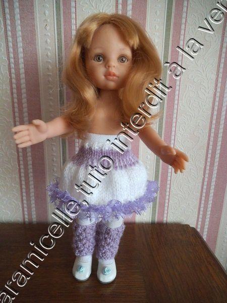 tuto gratuit poupée :jupe bicolore pour l'hiver
