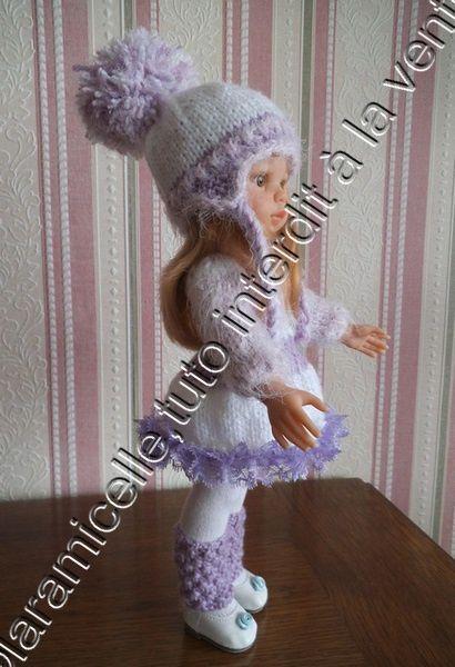 tuto gratuit poupée : bonnet  à nattes  et gros pompon