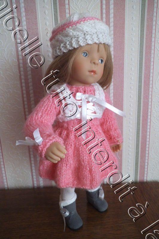 tuto gratuit poupée : bonnet avec rebord