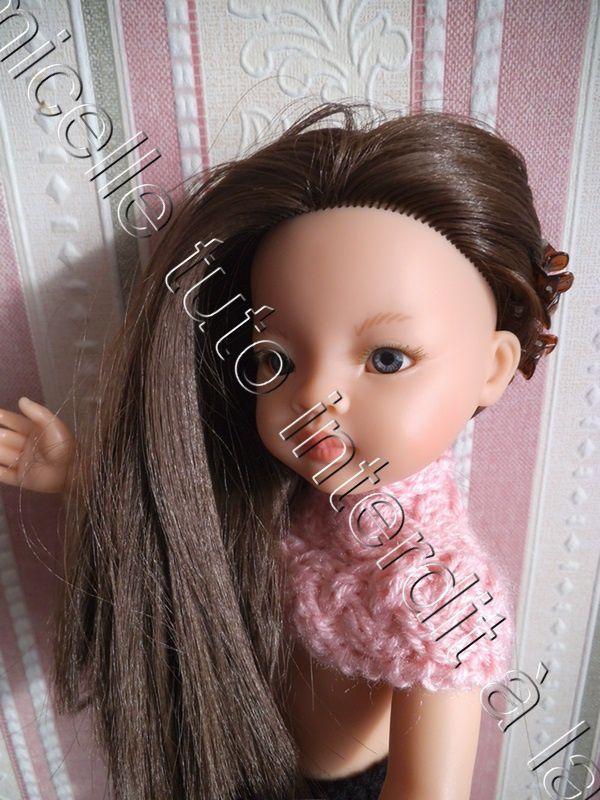 tuto gratuit poupée: snood protège épaules